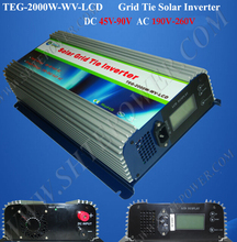 2KW dc to ac inverter, tie grid solar power inverter 2000W, 48V-220V