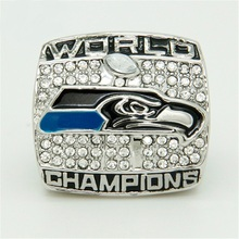 Hot Selling Cheap Jewelrys Mens Rings 2013 Seattle Seahawks Replica Super Bowl Rings Championship Ring For Fans(China)