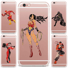 Case For Apple iPhone 7 6S 8 Plus 4S 7 5 Phone Case Superman Green Arrow Man Batman Patterned Wonder Woman Cartoon New Style TPU(China)
