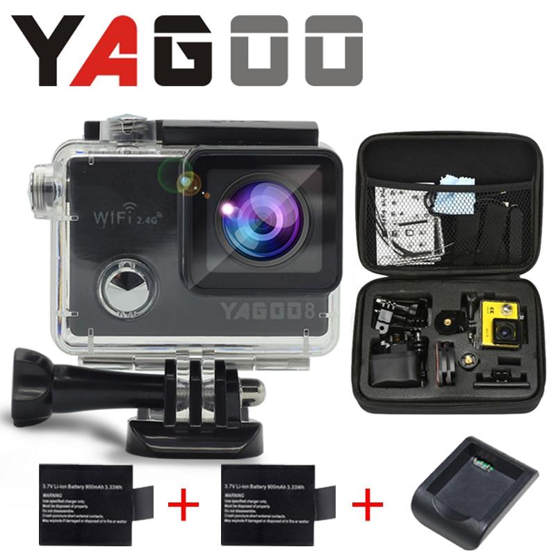 Gopro hero 4 yagoo8 estilo camera acao wi-fi 4 k a camera  agua Mini camear mergulho sport Helmet  recorder Marinha camera<br><br>Aliexpress