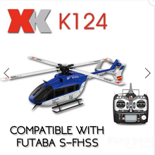 XK K124 6CH Brushless EC145 3D6G System RC Helicopter RTF(China)