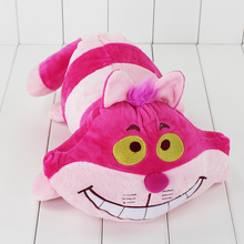 2017 Hot 40cm pink Cartoon Animal Soft Stuffed Alice in Wonderland Cheshire Cat Plush Toys for Children birthday gifts