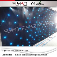 Fireproof CE RoHS LED star curtain,DMX wedding equipments,TV show backdrops RGB3in1 3.5x9 meter(China)