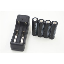 4pcs 18650 3.7V 6000mAh li-ion rechargeable lithium Battery + multi-function dual  Battery Charger for 18650 16340 14500 26650