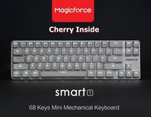 Magicforce Smart 68 Key Backlit USB Wired Mechanical Gaming Keyboard,Detacheable Cable Cherry MX Switches