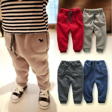 Thicken Warm Boys Girls Pants 2017 New Autumn Winter Casual Kids Pants 1 2 3 4 5 6 Year Toddler Childrens Trousers(China)
