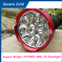 20000 Lumens light King 10T6 LED Flash Lamp 10 x CREE XM-L T6 LED Hunting Camping  Flashlight Torch Lamp Light Lantern Torch