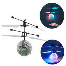 YKS 3pcs Infrared Induction Flying Flash Disco Colorful LED Ball Helicopter Child Toy New Sale