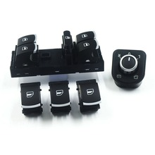 Free shipping! Mirror Switch Window Switch Console Button For Volkswagen VW Jetta MK5 Golf 5 6 Tiguan Passat B6 CC 5PCS/SET(China)