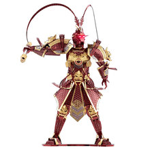 WMX 3d Metal Puzze Jigsaw Classic Metallic Chinese mythical figures Puzzle The Monkey King Model Educational Puzzles Toy(China)
