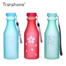 Transhome Hot Sale Unbreakable Water Bottles 550ml Candy Color Leak-proof Plastic Drinking Bottle For Sports Outdoor Camping Gym