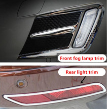 BENKE decoration trim For refitting Volvo XC60 2014 special ABS Chrome Front Bumper fog lamp rear light Protector Sticker Trim