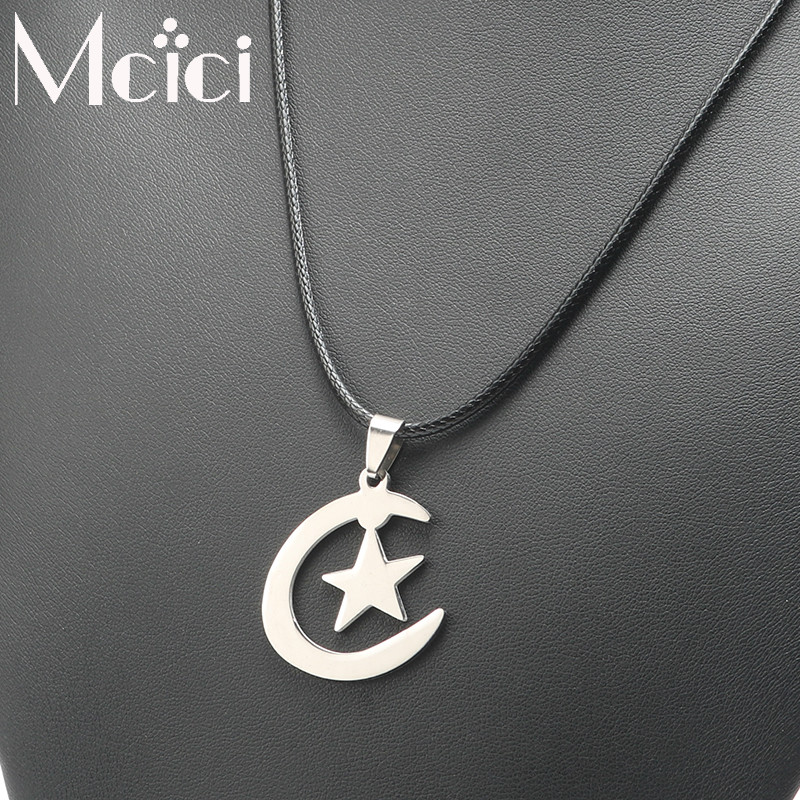 New Fashion Silver Color Stainless Steel Moon Star...