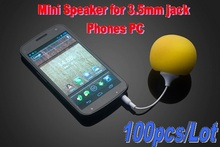 Mini Sponge Ball Speaker w/3.5mm jack cable