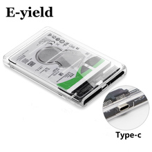 Transparent HDD Case Type C to USB3.1 2.5 inch Hard Drive Enclosure Support UASP Protocol