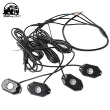 4 in 1 boat led deck lamp RGB led rock light bluetooth car kit for off-road vehicle with Bluetooth remote control