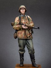 Free Shipping 1/16 Scale Unpainted Resin Figure WW2 Panzer Grenadier Feldherrnhalle 120mm(China)