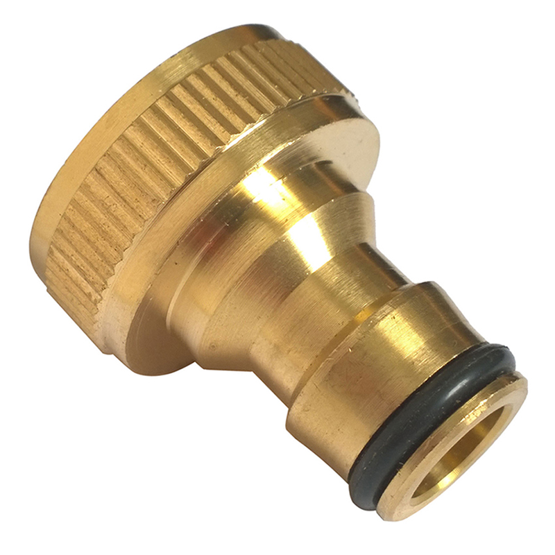 EZLIFE Hot Sale New Arrival 3/4 Solid Brass Threaded Tap Garden Hose Connect Adaptor Tap Snap Fitting Pipe NB0400(China (Mainland))
