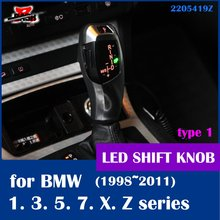 DASH X6 style illuminated LED shift knob for BMW E46 E39 E60 E90 E92 E82 E87 E38 E84 E83 E53 E86 E89 1998 2011(Taiwan,China)