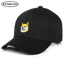 2017 New Fashion Unisex Cartoon Cotton Dog Cap Embroidery Animal Baseball Cap Gorras Men Women Summer Casual Snapback Sun Hat