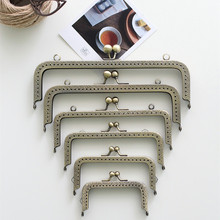 Bronze Square Coins Purse Frames Metal Kiss Clasp Bags Making Supplies DIY 10.5/12.5/15.5/18/20 CM Complete specifications 5pcs(China)