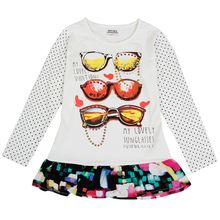 Buy Retail 2017 novatx Brand girls t-shirts children clothing tees long sleeve spring/autumn sweatshirts dot bobo choses tops F6498 for $6.58 in AliExpress store