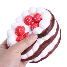Cute Delicious Cake Gags Practical Jokes Fashion 8CM Jumbo Cake Scented Squishy Soft Slow Rising Gift Fun Cute Toy Collect Decor(China)