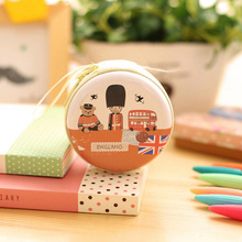 DreamShining Fashion Creative Coin Purse British Style Coin Bag Mini Headset Pouch Circular Purse London Soldier Handbag Wallet