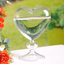 O.RoseLif European Creative Heart  Glass Vase Wedding Decoration  Flower Vase Container Vaso Home decor