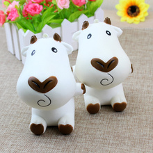 1PCS Cartoon Milk Cow Doll Squishy Slow Rising Jumbo Phone Straps Charms Scented Pendant Bread Cake Fun Kid Toy Gift