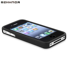 SZHXNOR For iphone 4 4S Case Business Shockproof case For Apple iphone 4 Case Soft TPU Silicone Phone Protective Cover,black(China)