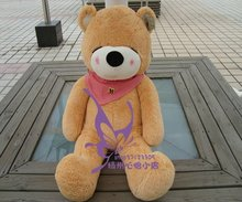 Free shipping Plush Full Cotton teddy bear toys 140cm White/Dark brown/Light Brown 120cm/160cm/180cm/200cm