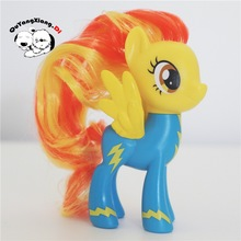 P8-004 Action Figures 8cm Little Cute Horse Model Doll Fleetfoot&Spitfire&Soarin Anime Toys for Children(China)