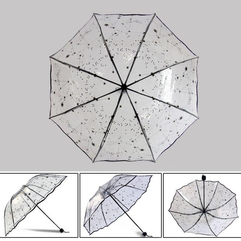 مظلة شفافة قابلة للطي للنساء 6