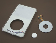 white plastic front faceplate fascia housing case cover clickwheel central button for ipod 5th 5.5th gen video 30gb 60gb 80gb
