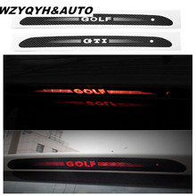 Carbon Fiber Stickers And Decals High Mounted Stop Brake Lamp Light Car Styling For VW Volkswagen GOLF 6 7 MK6 MK7(China)