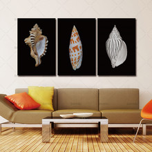 3 Pieces Of Wall Art Deco Seaview Sea Shells Modern Fashion Picture Print On Canvas Painting Oil Paintings Home Decoration(China)
