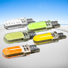 10pcs T10 W5W Silicone Case 12 Chips COB LED Car Wedge Interior Light WY5W 194 501 Auto Parking Bulbs Turn Side Lamps 12V 10X(China)