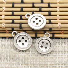 Buy 10pcs Charms double sided button 13mm Tibetan Silver Plated Pendants Antique Jewelry Making DIY Handmade Craft for $1.28 in AliExpress store
