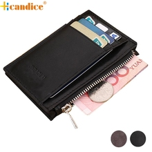 Hcandice Hcandice Luxury Retro Zipper Mens Leather Wallet Credit ID Card Purse Best Gift Wholesale Feb2