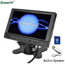"GreenYi T702 6PCS 7"" TFT LCD 800x480 720P Headrest Car MP5 Monitor Parking Assistance with Speaker Support MP5 FM Video Player(China)"