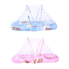 Buy 1pc Baby Cot Bed Canopy Mosquito Net 0-2 Years Baby Bed Net Portable Folding Travel Crib Bed Tent Pillow Kids Children for $11.41 in AliExpress store