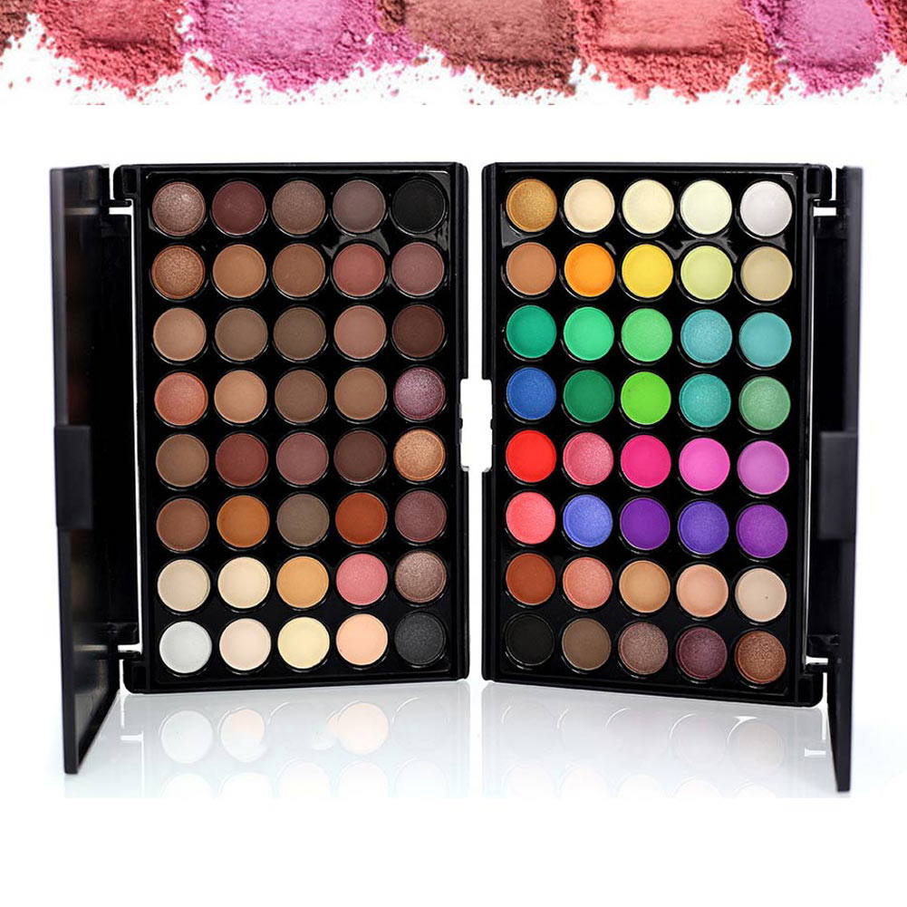 40 Colors Smoky Matte Eyeshadow Pallete Mixed Color Baking Powder Eye Shadow Palette Naked Nude Glitter Cosmetic Set Waterproof(China (Mainland))