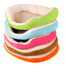 Hot Sale! Dogs Bed Pets House Soft Warm Cat Nest Luxury Dog Mat Pet Cushion Kennel Cat Pad 5 Colors High Quality FMYK027