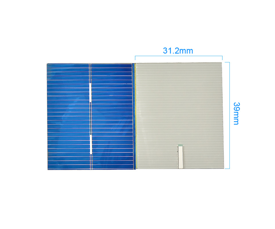 Aoshike 100pcs 0.5V 0.2W Polycrystalline Solar Panel 39*31.2 mm Solar Cell Silicon DIY Solar Charger Battery Painel Solar 4