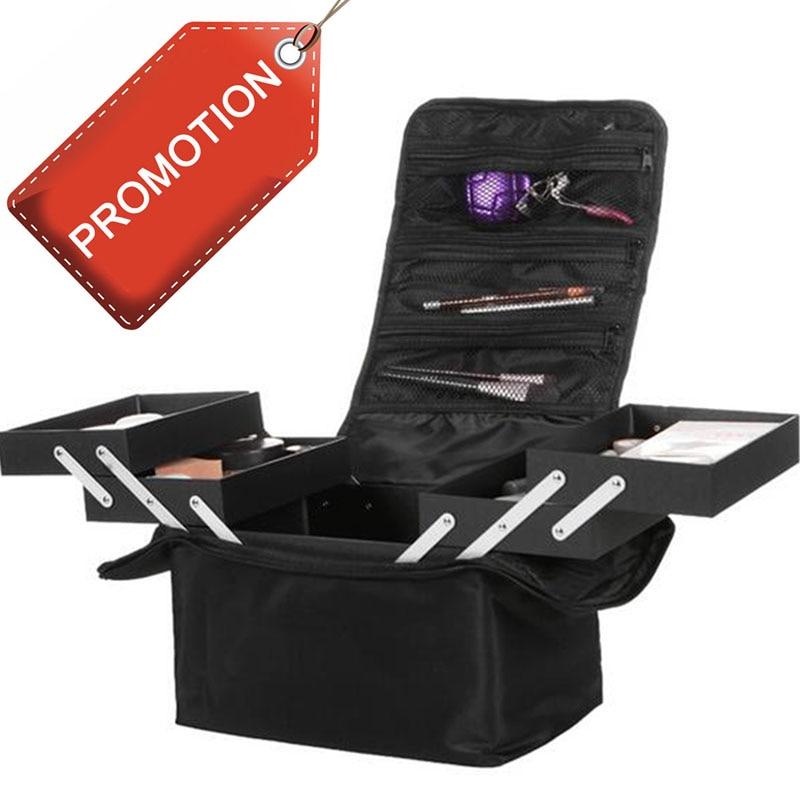 Organizador Fashion Women Makeup Organizer Large Capacity travel  Multilayer Clapboard Cosmetic Bag Case Beauty Salon Tool Bin<br>