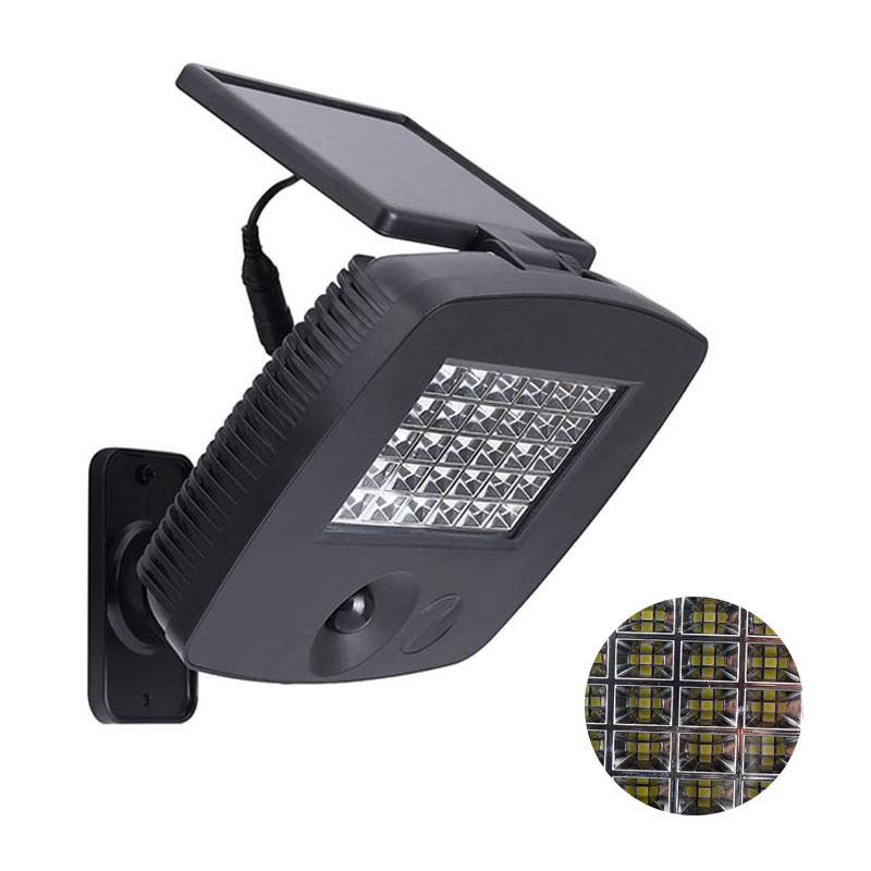 200LM 30 LED Solar Powered Ultra Bright PIR Motion Sensor Garage Garden Yard Wall Light Security Night Lamp for Outdoor Travel<br>