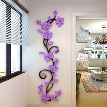 DIY 3D Sticker Acrylic Crystal Wall Stickers Living Room Bedroom TV Background Poster Home Decoration Accessories adesivo de par