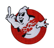 "4"" GHOSTBUSTERS Middle Finger Team ghost Movie TV Kids Embroidered LOGO Iron On Patch biker vest badge Emo Goth Punk Rockabilly"