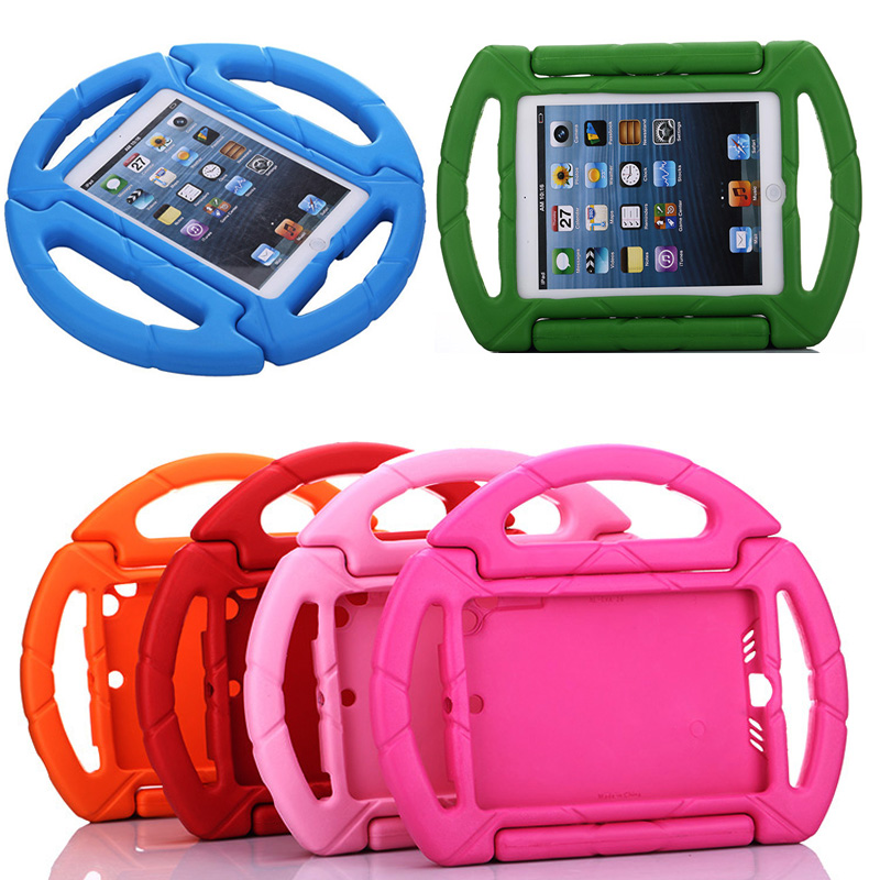 New Portable Kids hand-held Round tablet Stand holder shockproof drop resistance back Cover Case for 7.9 Apple iPad mini 3/2/1<br><br>Aliexpress